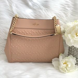 BRAND NEW COACH SIGNATURE LEATHER LEXY CHAIN BAG